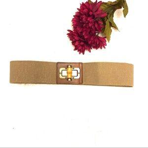 NWOT Elastic Waist Cincher Bamboo Turn-Lock Belt